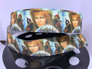 1 yard 1 inch Labyrinth Bowie Maze cult Movie Poster Grosgrain Ribbon