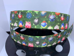 1 inch Disney Christmas Ornaments Grosgrain Ribbon