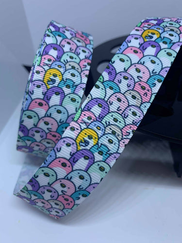 1 yard 1 inch Kawaii Penguin Grosgrain Ribbon Lanyard Style