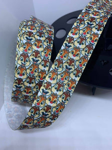 1 Yard 1 Inch Disney Characters Chip and Dale Grosgrain Ribbon Lanyard Style - Chipmunks