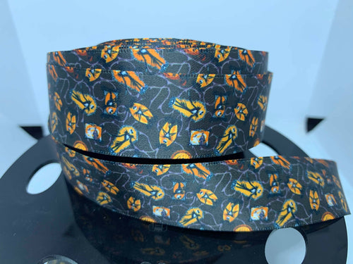 1 Yard 1 inch Jack Skellington Nightmare Before Christmas SATIN Ribbon