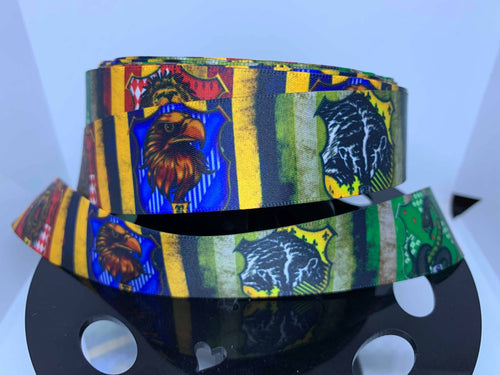1 yard 1 inch Harry Potter Hogwarts Houses SATIN Ribbon-Gryffindor Ravenclaw Hufflepuff Slytherin