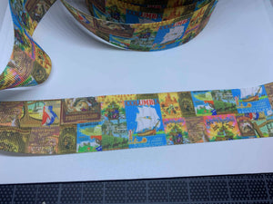 1 Yard 1 1/2 inch Frontierland Attraction Poster Grosgrain Ribbon