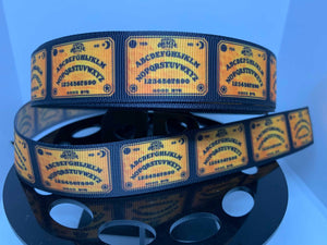 1 inch Ouija Board Grosgrain Ribbon craft supply, hair bow, dog collar