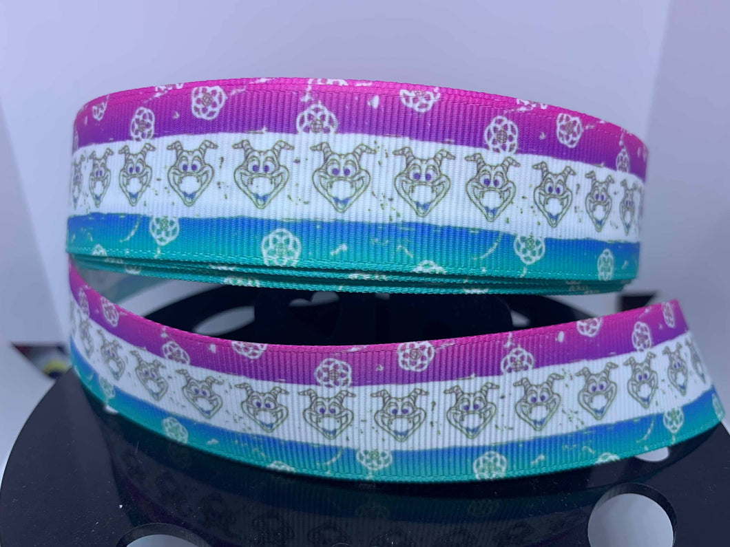 1 yard 1 inch Figment Epcot Journey into Imagination Dream Finder Grosgrain Ribbon