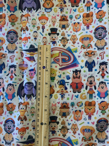 Cotton Poly Classic Disney Afternoon Custom Fabric