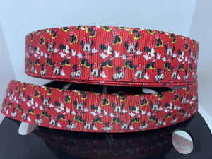 1 yard 1 inch Disney Classic Minnie Mouse Print Grosgrain