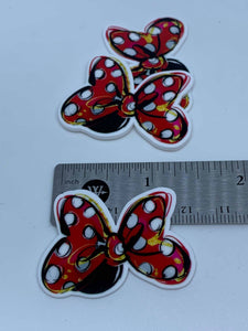 Disney Minnie Mouse Polka Dot Bow Flat back Printed Resin
