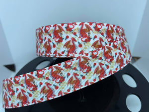 "1 yard 7/8"" Red Dragon Grosgrain Ribbon"