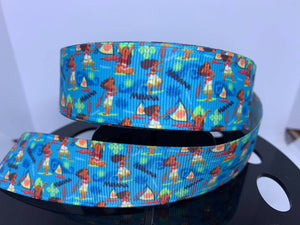 1 yard 1 yard Disney Moana multi Print Grosgrain Ribbon