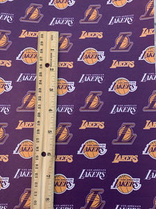 Lakers Basketball Printed Synthetic Leather Sheets
