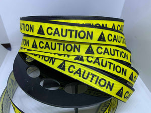 "1 yard 5/8"" ""CAUTION"" Grosgrain Ribbon Assistance Dogs PTSD Dogs Guide Dog Collar"