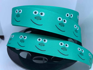 1 Yard 1 inch Monsters Inc Sully Grosgrain Ribbon