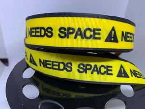 "1 yard 1 inch ""Needs Space"" Grosgrain Ribbon Assistance Dogs PTSD Dogs Guide Dog Collar"