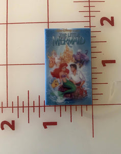 Retro Throwback Disney The Little Mermaid VHS Cover Flat back Printed Resin