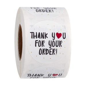 """Thank you for your order"" Labels 500 each roll"