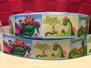 "1 yard 7/8"" Disney Classic Original Pete's Dragon  Grosgrain Ribbon - Disney Bow Making Ribbon -"