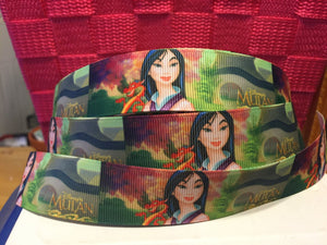1 yard 1 inch Disney Princess Mulan Grosgrain Ribbon