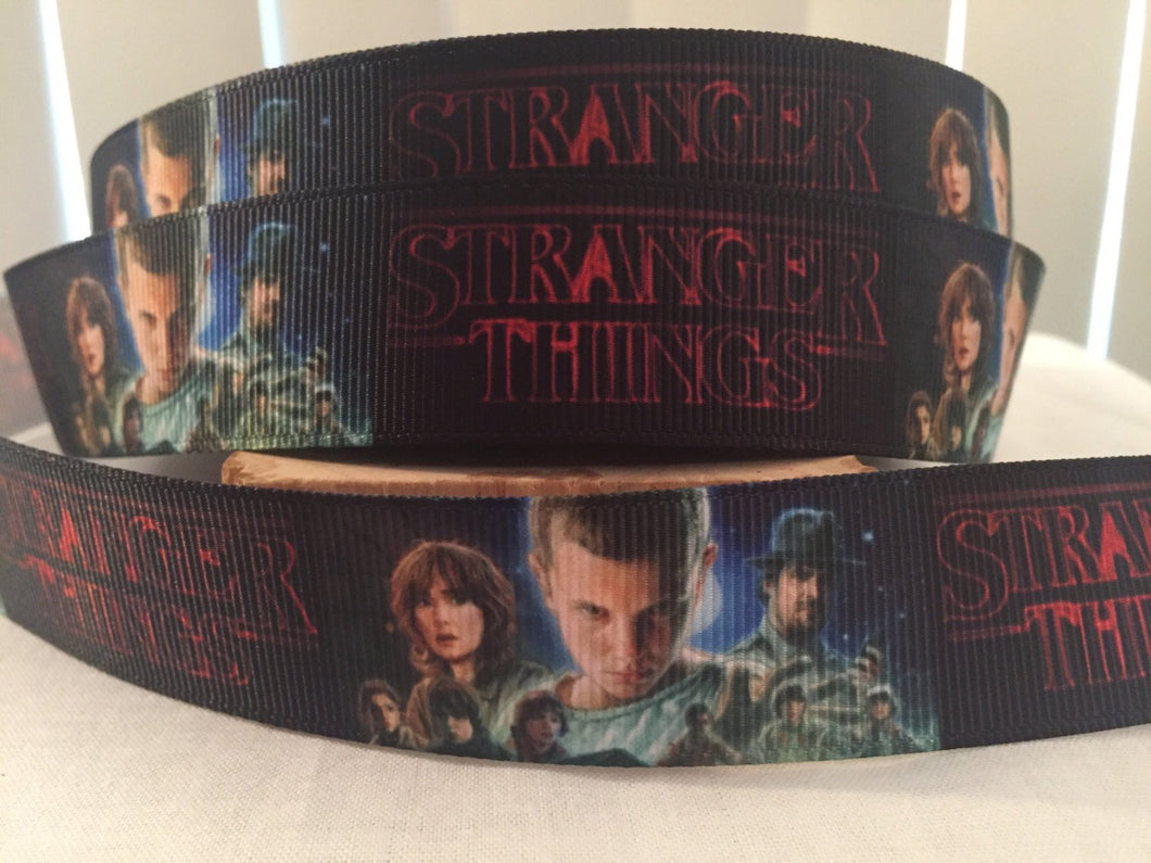 1 yard 1 inch Stranger Things Streaming show Grosgrain Ribbon