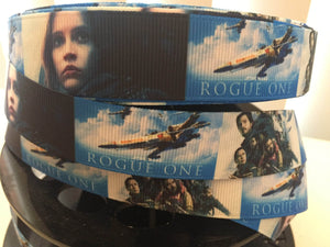 "1 yard 7/8"" New Film Rogue One Star Wars Grosgrain Ribbon - Comic Bow Making Ribbon - Cosply Grosgrain Ribbon - 22 mm Ribbon"