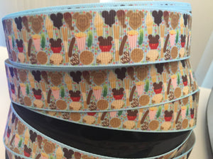 1 yard 1 inch Park Snacks Disney Food Grosgrain Ribbon