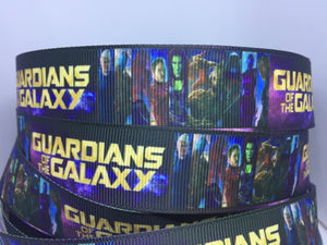 1 yard 1inch Guardians of the Galaxy Disney Movie Grosgrain Ribbon Groot Bow Making Ribbon - 22mm Starlord GOTG