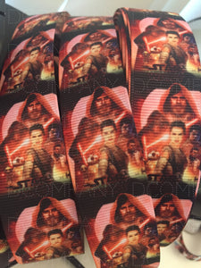 CLEARANCE 1 yard 1 inch Star Wars The Last Jedi Grosgrain Ribbon - Light Saber Lanyard Print