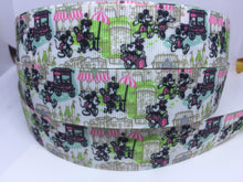 1 yard 1 inch Dooney Purse Pretty Paris Cafe Print Grosgrain Ribbon