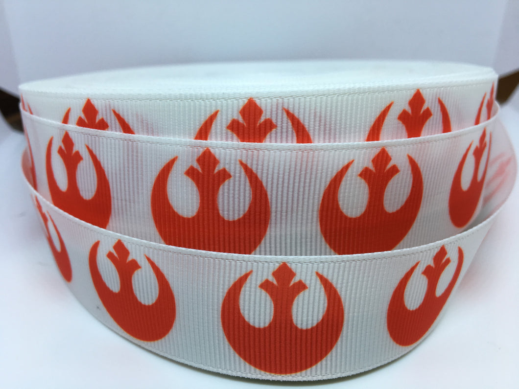 STORE EXCLUSIVE 1 yard 1 inch Star Wars Rebellion Rebel X-Wing Grosgrain Ribbon