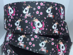 "1 yard 7/8""  TokiDoki Unicorno Kawaii Grosgrain Ribbon Mermaid"