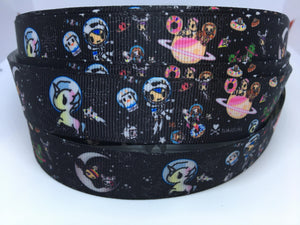 1 yard 1 inch Anime TokiDoki Kawaii Grosgrain Ribbon - Stellina Bow Making Ribbon - Unicorno & Donutella Grosgrain Ribbon -25mm Toki Doki