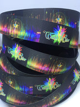 1 yard 1 inch Disneyland World of Color Grosgrain Ribbon - Disney Bow Making Wonderful World of Color Rainbow