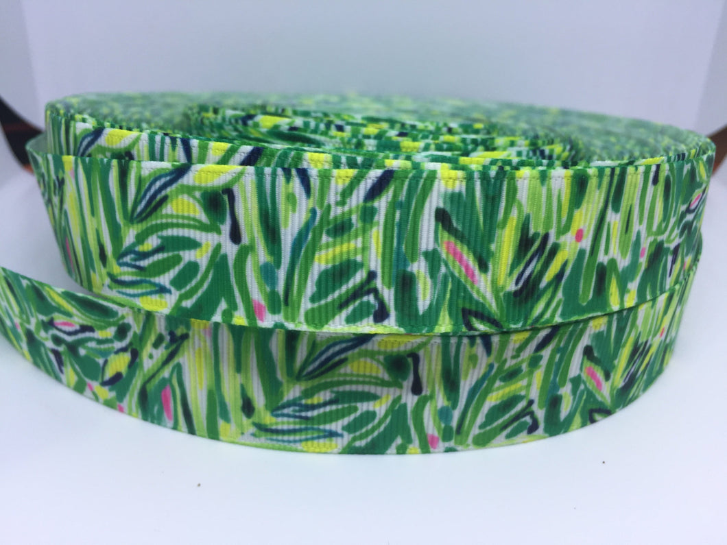 Lilly Pulitzer inspired grosgrain ribbon 7/8