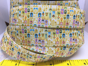 1 yard 1 inch Disneyland Its a Small World Grosgrain Ribbon - Disney Bow Making Ribbon - IASW Children of the world Mary Blair Print