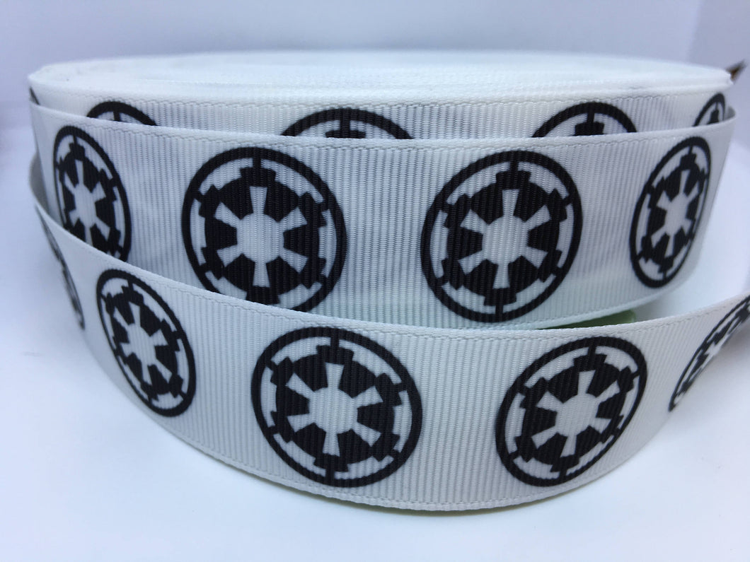 1 yard 1 inch Star Wars Empire Cog Grosgrain Ribbon