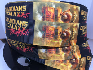YARD MARVEL GUARDIANS OF THE GALAXY MOVIE GROOT GROSGRAIN RIBBON CHARACTER