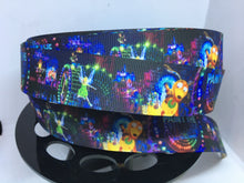 Paint the Night Parade 1 inch Grosgrain Ribbon, Disneyland Inspired ribbon, craft supply, hair bow, dog collar