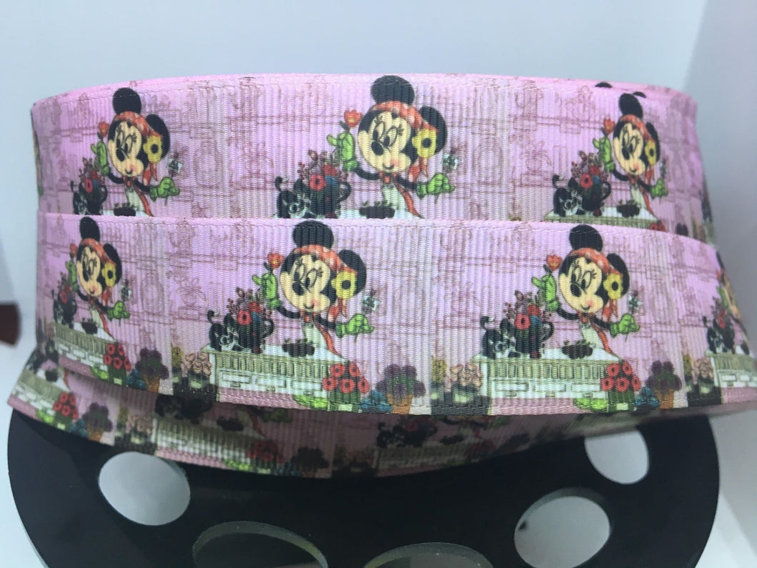 1 yard 1 inch EPCOT Flower and Garden Festival Minnie Mouse Grosgrain Ribbon