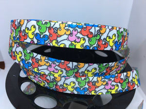 "1 yard 5/8"" Disneyland Mickey Balloon Ribbon Grosgrain Ribbon - DLR Bow Making Ribbon Disney *Fabric To match"