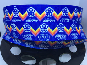1 yard 7/8' Vintage Throwback 80's EPCOT Center l Grosgrain Ribbon