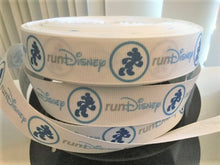 "1 yard 7/8"" Runner Run DLR Grosgrain Ribbon - Bow Making Ribbon -WDW 5k 10k Marathon"
