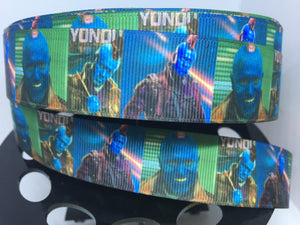 1 yard 1 inch Guardians of the Galaxy Disney Movie Grosgrain Ribbon Yondu Bow Making Ribbon - 22mm Ravagers GOTG