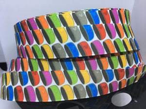 "1 yard 7/8"" Magic Bands Walt Disney World Grosgrain Ribbon"