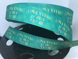 "BTY 1 yard 1 inch Disney Movie UP ""Adventure is out there"" Grosgrain Ribbon - Disneyland Bow Making"