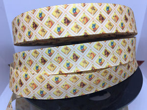 "Dooney Disney Lady and the Tramp Dogs  7/8"" Grosgrain Ribbon, Inspired ribbon, craft supply, hair bow, dog collar"