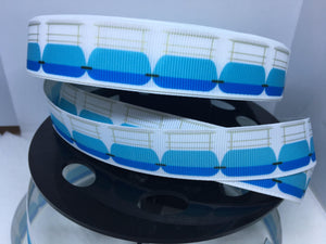 "EXCLUSIVE DESIGN 1 yard 7/8"" Disneyland People Mover Grosgrain Ribbon"