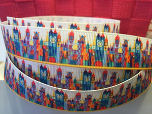 "1 yard 7/8"" Disneyland Its a Small World Grosgrain Ribbon"