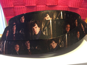 "1 yard 7/8""  BBC Sherlock Grosgrain Ribbon - Bow Making Ribbon -Watson Grosgrain Ribbon - 22 mm Lanyards 221B"
