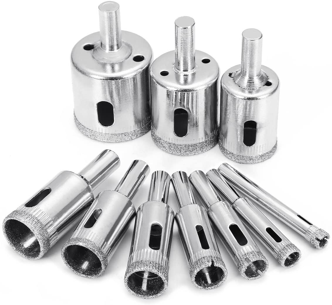 Glass Tile Marble Hole Drilling Bit Set(10PCS)