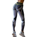 Load image into Gallery viewer, Aesthetic Abstract Print High Waist Leggings